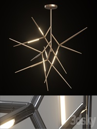Chandelier Venicem Spear chandelier (3 materials)