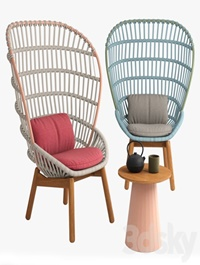 Kettal cala armchair wood feet