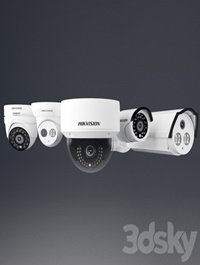 A set of security cameras Hikvision