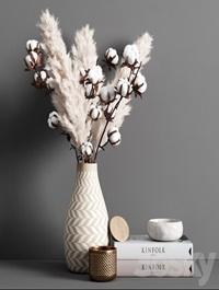 Decorative set pampas
