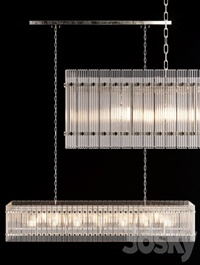 Restoration Hardware SAN MARCO LINEAR CHANDELIER 72 Nickel