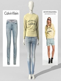 Female mannequin with jeans and sweater 3d Model