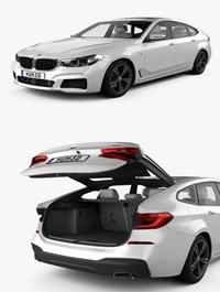 BMW 6 Series Gran Turismo M-Sport with HQ interior 2017 3D model
