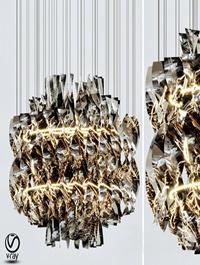 Aura fumo chandelier