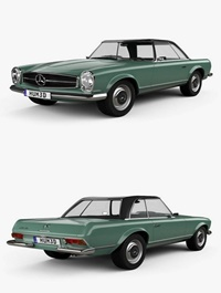 Mercedes-Benz SL-class (W113) 1963 3D model