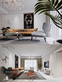 Modern style Livingroom Vray 14