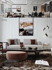 Modern style Livingroom Vray 13