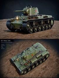 WW2 Soviet Tank KV1