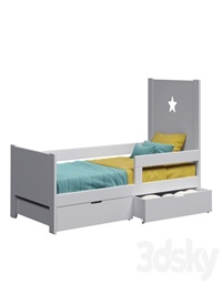 Cot with drawers for storage Dream House Kids