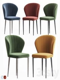Harper velvet dining chair