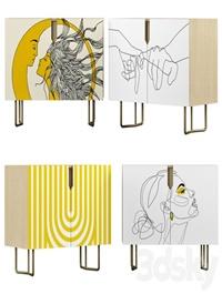 Nightstand set 01 Yellow art