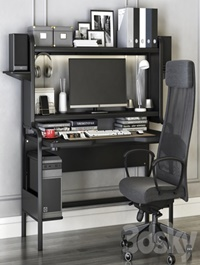 IKEA workplace set with FREDDE desk and MARKUS chair