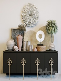 Ambella Sapling cabinet ethnic decorative set