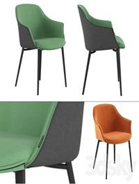 Chair Kedua metal legs by Mobliberica
