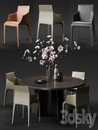 POLIFORM SEATTLE Armchair & KENSINGTON Table