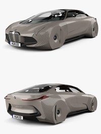 BMW Vision Next 100 concept with HQ interior 2016 3D Model