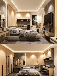 Bedroom Interior Scene By Phuc La