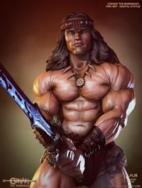 Conan the Barbarian Statue 3D Print Model