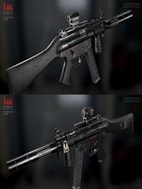 H&K mp5 Custom 3D Model