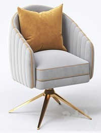 Roar Rabbit Pleated Swivel Chair