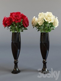Four bouquet of roses