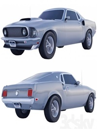 Ford Mustang 69 3d model