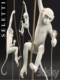 The Monkey Lamp Ceiling Version by Seletti
