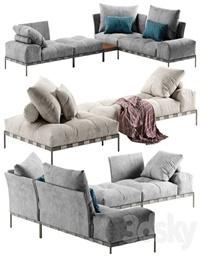 Saba Italia Pixel Light sofa set 4