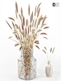 Dry flowers in glass vase 2