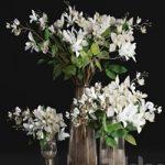 Gardenia jasmine bouquet vases