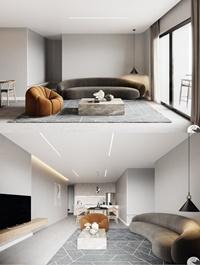 Interior Kitchen – Livingroom Scene By Pham Minh Quang