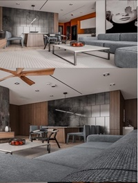 Kitchen – Livingroom Scene By Dung Chan