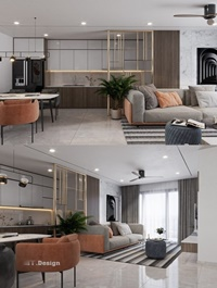 Interior Livingroom Scene Sketchup 02 by TrongThanh