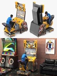 Turbosquid - Boy on Storm Riders Motorcycle Racing Arcade Game Fur