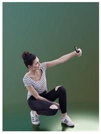 Casual Girl Taking Selfie Scanned 3d model