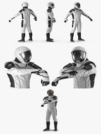 Futuristic Space Suit Rigged
