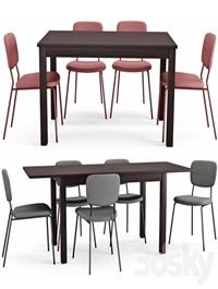 Table and chair Laneberg Karljan