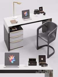 Rubelli Notaro Desk and Minotti Twombly