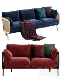 Buzzi cane sofa