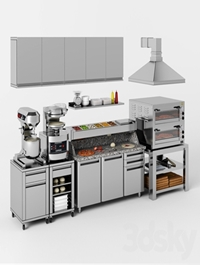 Equipment for pizzeria
