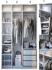 Wardrobe with filling