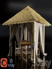 Gazebo of bamboo