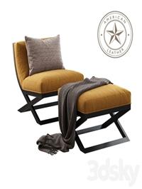 American Leather / Tori (Armchair & Ottoman)