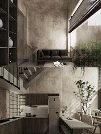 Interior Kitchen Livingroom Scene By Phu Nguyen