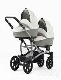 Carriage for twins for newborns