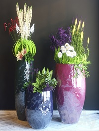 Pots with flowers
