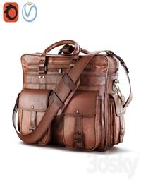 Everett Large Leather Pilot Briefcase Bag