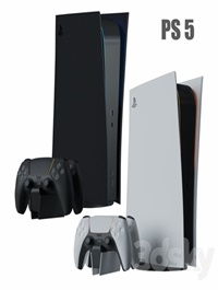 Sony PlayStation 5 console with ps5 gamepad