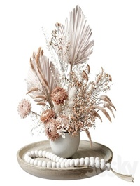 Bouquet of dried flowers with chrysanthemums 34