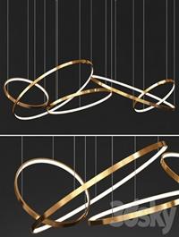 Gold Ring Chandelier 3